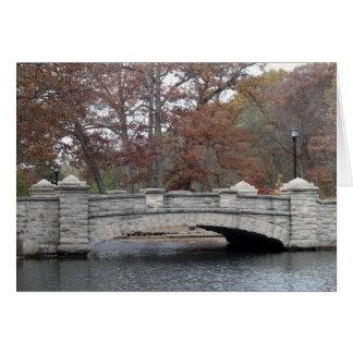Ponte de pedra cartão comemorativo