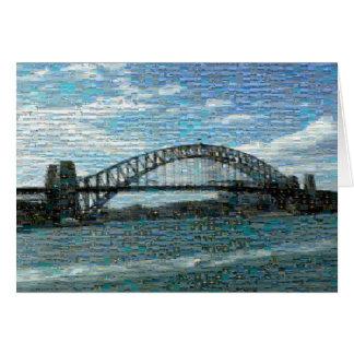Ponte de porto de Sydney (mosaico) Cartão Comemorativo
