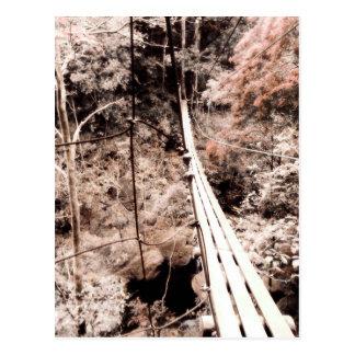 ponte de suspensão cartão postal