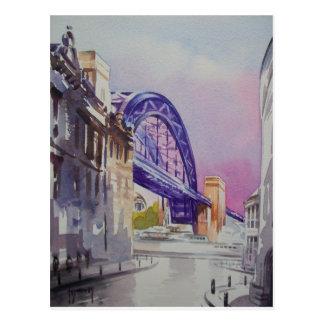 Ponte de Tyne do cartão do decano Rua
