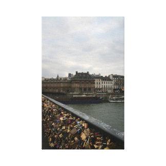 Ponte do amor de Paris - Pont de l'Archeveche Impressão Em Tela