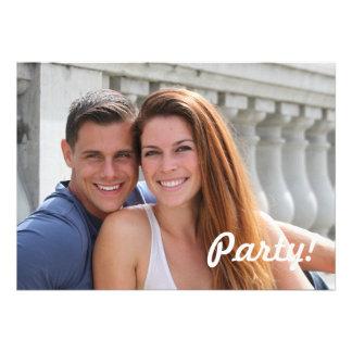 Ponte do casal dos jovens convites personalizado