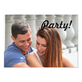 Ponte do casal dos jovens convite 12.7 x 17.78cm
