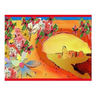 Ponte do deserto do cartão da arte