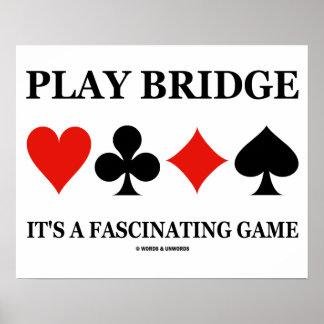 Ponte do jogo é um jogo fascinante (os ternos do c poster