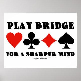 Ponte do jogo para uma mente mais afiada (quatro t posters