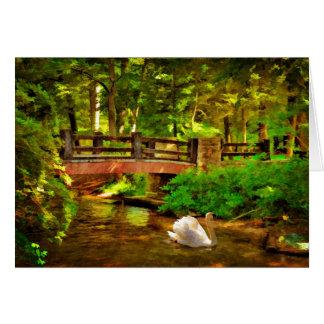 Ponte e cisne - cartão
