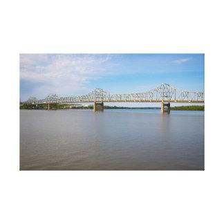 Ponte e impressão das canvas do rio