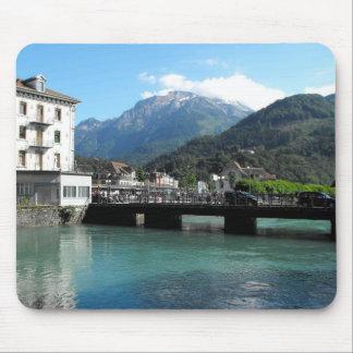 Ponte em Interlaken na suiça Mouse Pad