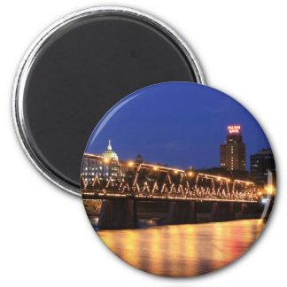Ponte Harrisburg Pensilvânia da rua da noz Ímã Redondo 5.08cm