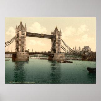 Ponte II da torre, Londres, Inglaterra Pôsteres