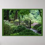 Ponte - jardim do japonês de Portland Pôster