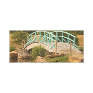 Ponte legal curvada na lona envolvida impressão de canvas envolvida