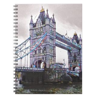 Ponte Londres da torre Cadernos Espiral