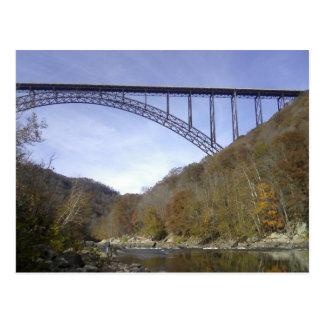 Ponte nova de George do rio Cartão Postal