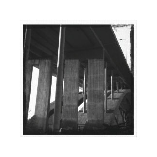 Ponte sobre a água incomodada impressão em tela canvas
