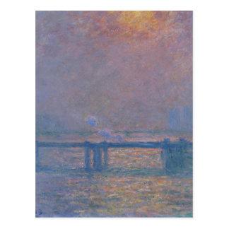 Ponte transversal de Charing, a Tamisa por Claude Cartão Postal