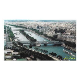 Pontes sobre o rio Seine Impressão De Foto