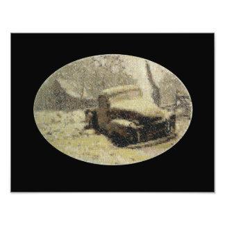 Ponto de cruz velho do caminhão impressão de foto