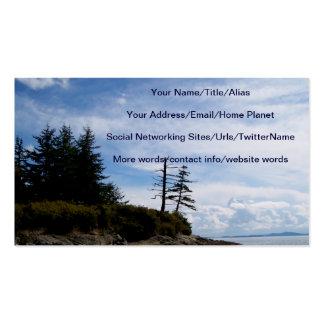 Ponto de duas árvores cartão de visita