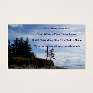 Ponto de duas árvores cartão de visitas