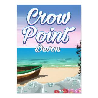 Ponto do corvo, poster de viagens de Devon Impressão De Foto