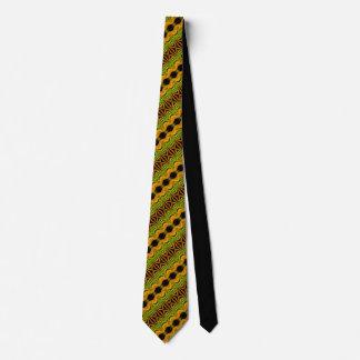 Ponto moderno amarelo verde gravata