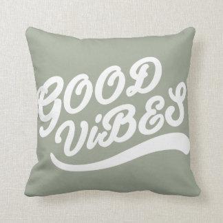 Ponto morto cinzento esverdeado prudente do bom travesseiros de decoração