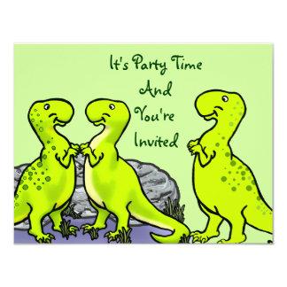 Ponto, o dinossauro convite 10.79 x 13.97cm