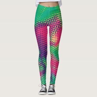 Pontos abstratos da reticulação do pop art leggings