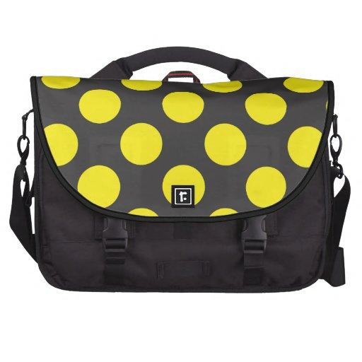 pontos amarelos mochila para laptop