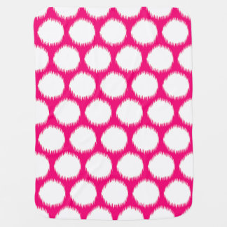 Pontos asiáticos cor-de-rosa de Ikat dos humores Manta De Bebe