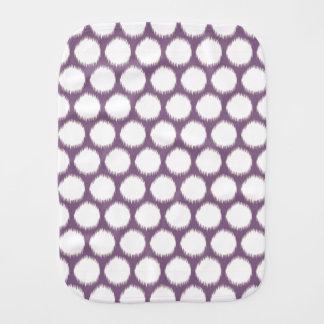 Pontos asiáticos violetas de Ikat dos humores Paninhos De Boca