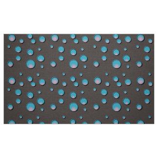 Pontos azuis do inclinação no tecido cinzento