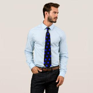 Pontos azuis gravata