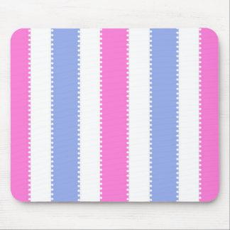 Pontos bonitos e listras cor-de-rosa e roxos mouse pad