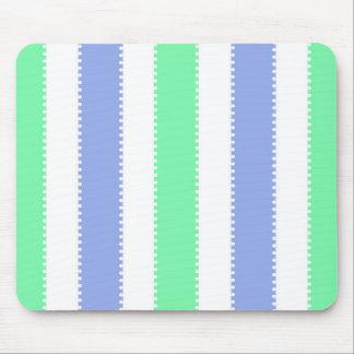 Pontos bonitos e listras verdes e roxos mouse pad
