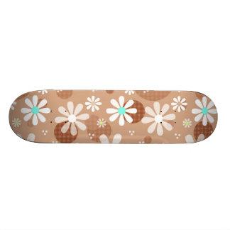 Pontos bonitos femininos do Aqua do teste padrão Shape De Skate 20,6cm