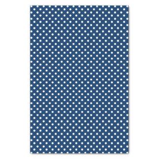 Pontos brancos no lenço de papel azul