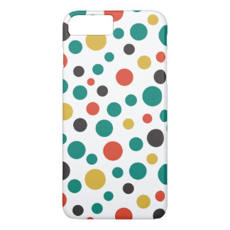 Pontos coloridos do tamanho à moda moderno da capa iPhone 7 plus