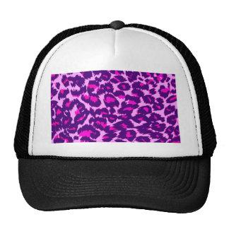 Pontos cor-de-rosa e roxos do leopardo boné