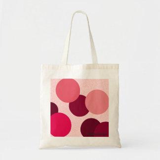 Pontos cor-de-rosa sacola tote budget