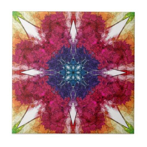 Pontos da simetria azulejo