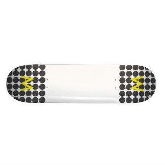 Pontos DarkGrey telhados Shape De Skate 20cm