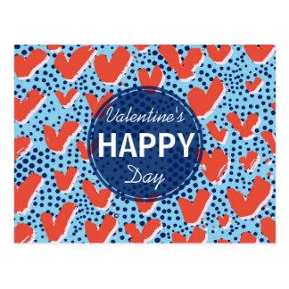 Pontos do azul do feliz dia dos namorados | e cartão postal