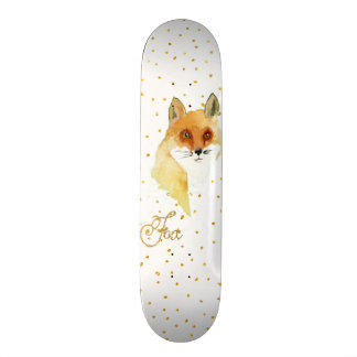 Pontos do brilho do falso do ouro da raposa da shape de skate 18,4cm
