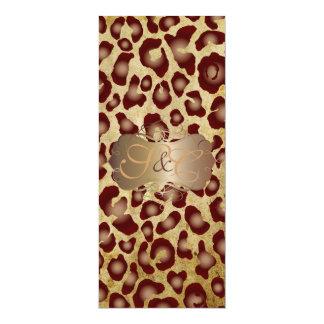 Pontos do leopardo + pergaminho dos convite 10.16 x 23.49cm