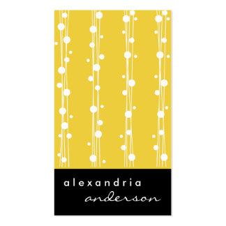 Pontos do limão super e cartões de visitas à moda