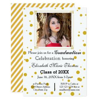 Pontos do ouro - anúncio da graduação convite 12.7 x 17.78cm