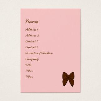 Pontos e bolo das listras cartão de visitas